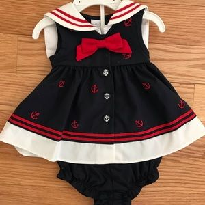New with tags navy, white, and red dress